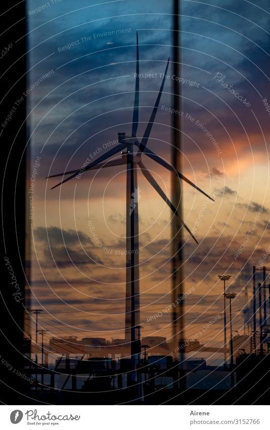 Anstrengungen verdoppeln | UT Hamburg Energiewirtschaft Erneuerbare Energie Windkraftanlage Himmel Sonnenaufgang Sonnenuntergang drehen gigantisch groß hoch