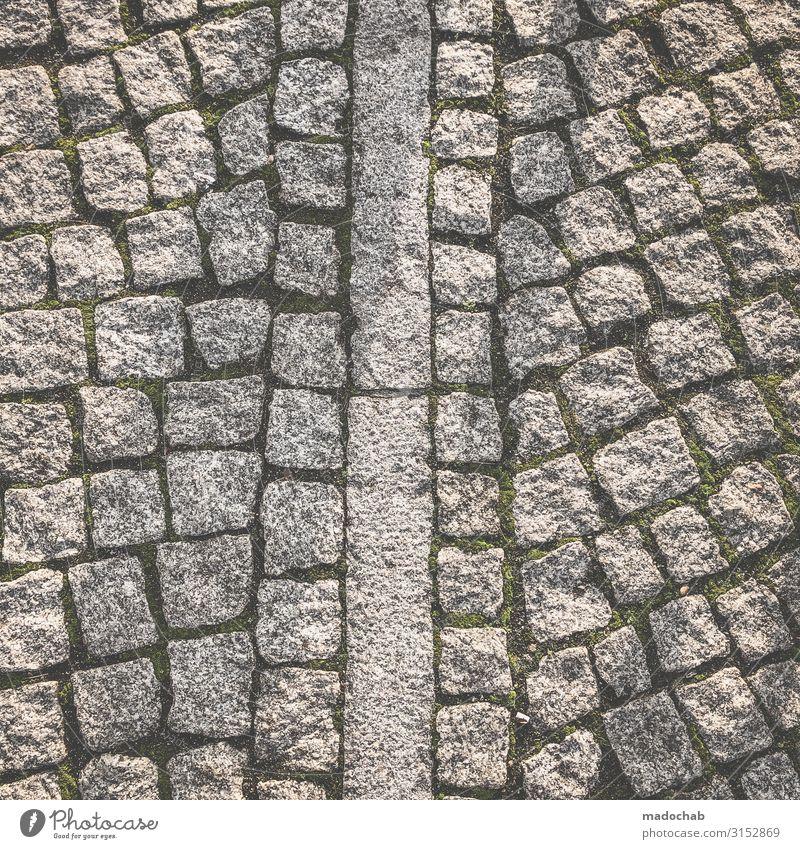 GRAFISCHES BODENMUSTER Personenverkehr Wege & Pfade Stein eckig einfach Unendlichkeit trashig trist Stadt viele grau Verlässlichkeit Vorsicht Gelassenheit