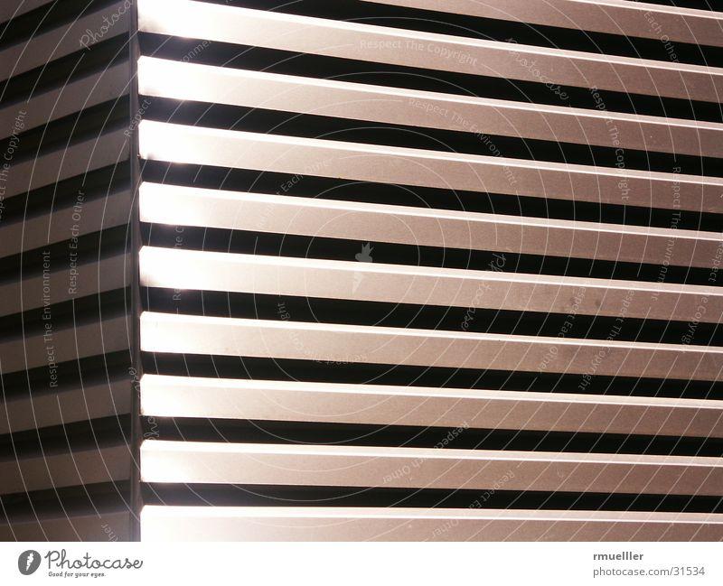Der Schacht Metall Architektur Oberfläche Aluminium Klimaanlage Abluft