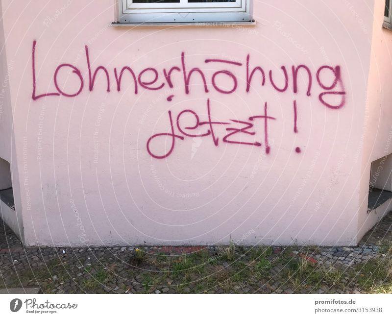 rot Graffiti Gefühle rosa Armut Zeichen Geld reich Mindestlohn