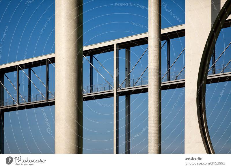Brücke über die Spree Architektur Berlin Deutscher Bundestag Deutschland Hauptstadt Bundeskanzler Amt Parlament Regierung Regierungssitz Spreebogen
