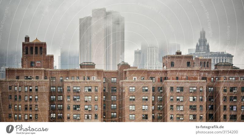 New Nebel, New York Ferien & Urlaub & Reisen Sightseeing Städtereise Häusliches Leben Wohnung Haus Himmel Wolken schlechtes Wetter New York City Stadt