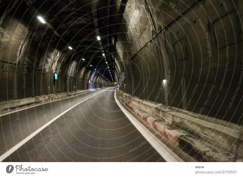 old road with tunnel on the shores of Lake Garda Tunnel Verkehr Autofahren Straße dreckig gruselig Recreation Road car damaged decay forgotten holidays italian