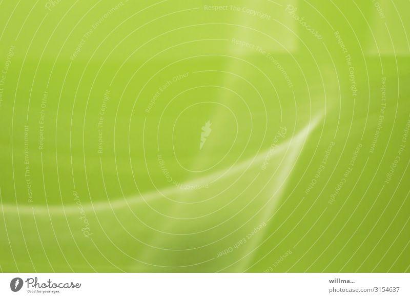 Die Farbe grün trendy Schwung Hoffnung einfarbig hellgrün Strukturen & Formen Textfreiraum maigrün Menschenleer Unschärfe Reflexion & Spiegelung