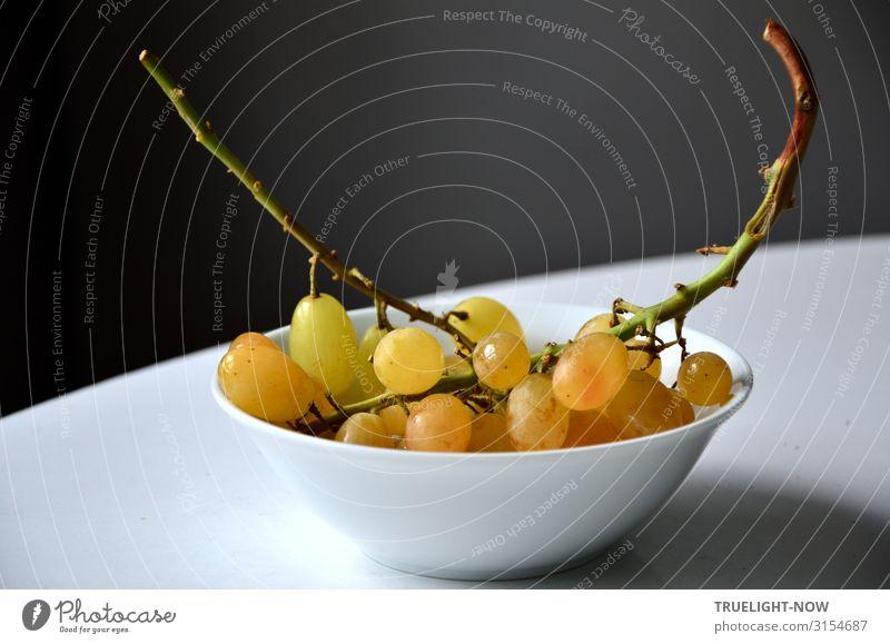 Süße Trauben Lebensmittel Frucht Weintrauben Ernährung Bioprodukte Vegetarische Ernährung Diät Dessert einfach frisch Gesundheit lecker natürlich süß gelb gold