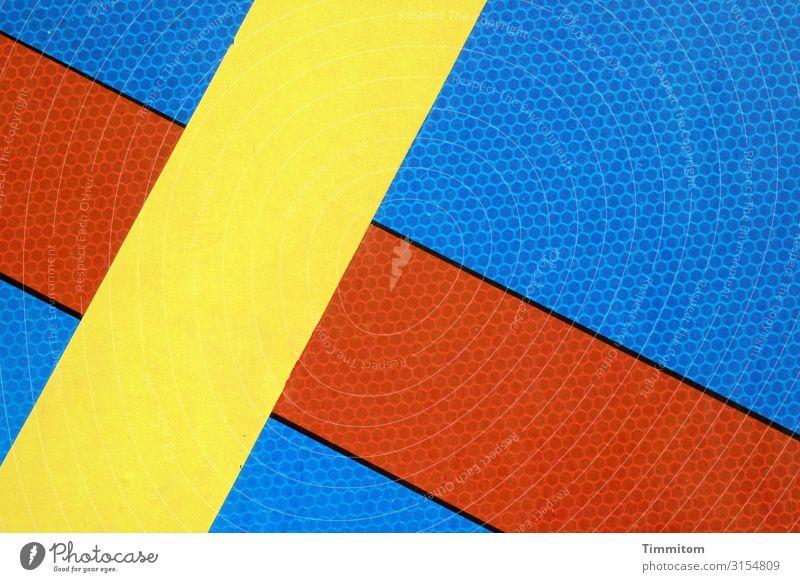 X auf Verkehrsschild Straße Verkehrszeichen Metall Kunststoff Schriftzeichen Schilder & Markierungen Linie x Aggression blau mehrfarbig gelb rot evident