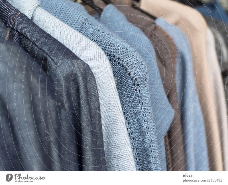 Herbstmode am Kleiderbügel blau Gesundheit Mode braun Design Bekleidung kaufen einzigartig Warmherzigkeit Geld Neugier neu viele Stoff wählen trendy