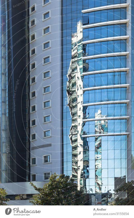 Spiegelung in der Glasfassade kaufen elegant Design Tourismus Ausflug Haus Arbeitsplatz Büro Architektur Lissabon Portugal Europa Stadt Hauptstadt Stadtzentrum