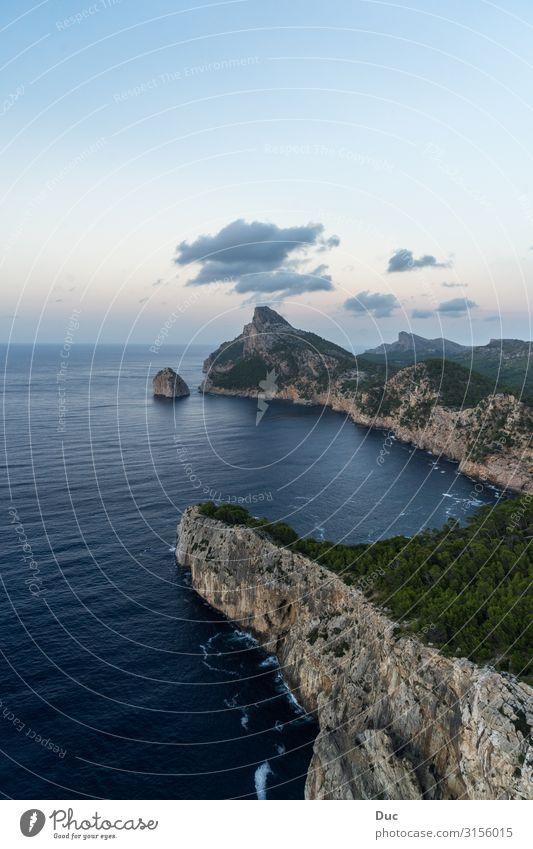 Cap de Formentor Wassersport Klettern Bergsteigen wandern Umwelt Natur Landschaft Himmel Sonnenaufgang Sonnenuntergang Klima Felsen Berge u. Gebirge Wellen