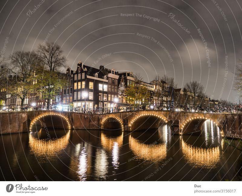 Amsterdam Ferien & Urlaub & Reisen Tourismus Ausflug Sightseeing Städtereise Fahrradfahren Wasser Niederlande Europa Hauptstadt Stadtzentrum Altstadt Haus