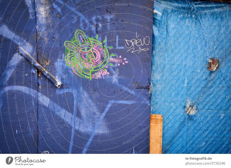 Bauzaunkunst in Manhattan Städtereise Arbeitsplatz Baustelle Wirtschaft Business Kunst Künstler New York City Mauer Wand Fassade Holz Zeichen Schriftzeichen