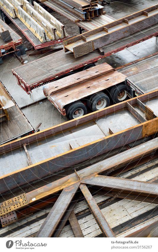 Stahlträger vs. Strahlsäger Arbeit & Erwerbstätigkeit Beruf Baustelle Wirtschaft Business Unternehmen Baumaschine Technik & Technologie Industrie New York City
