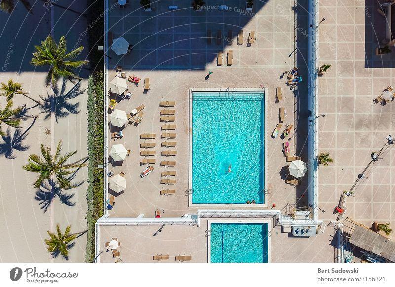 Florida Lifestyle Antenne Stil Erholung Schwimmbad Freizeit & Hobby Sommer Sonnenbad Strand Häusliches Leben Wärme Fluggerät entdecken oben Gelassenheit elegant