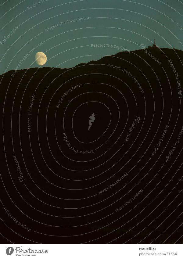 Mondaufgang Himmel Berge u. Gebirge Freiheit Stimmung Freizeit & Hobby Wolf