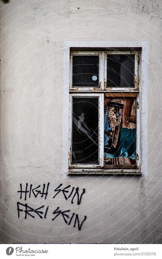 High ist frei   UT HH19 Stadt weiß Haus Erholung Freude Fenster schwarz Leben Graffiti Wand lustig Glück Gesundheitswesen Gebäude Mauer fliegen