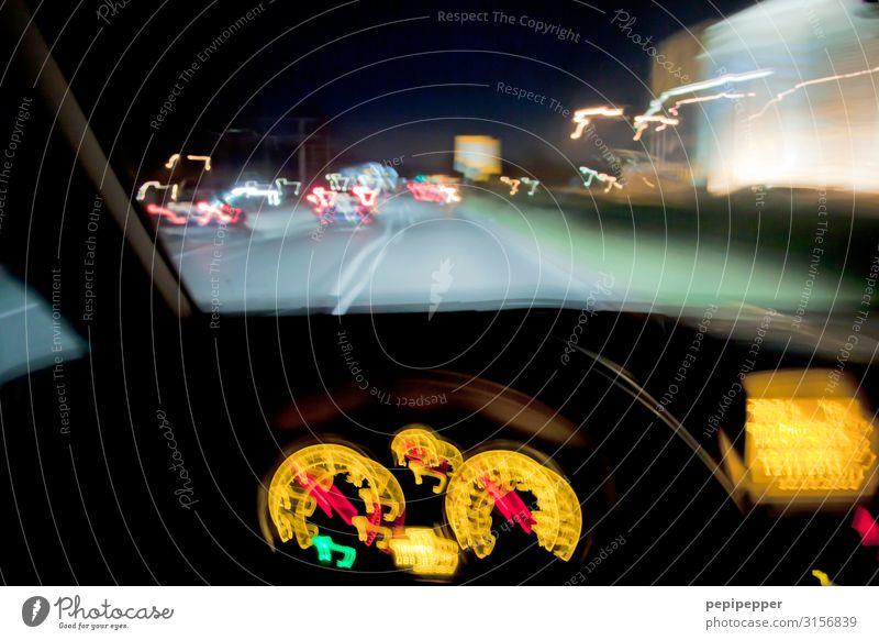 don't drink and drive Alkohol Nachtleben Messinstrument Verkehr Verkehrswege Straßenverkehr Autofahren PKW Lastwagen rennen mehrfarbig Alkoholsucht