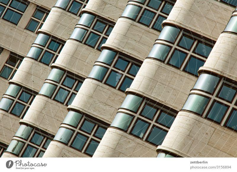 Shell Haus Berlin Architektur Bauhaus Etage Fassade Fenster Vorderseite Gebäude schell haus schellhaus Ecke Neigung Verwaltung Hintergrundbild Menschenleer
