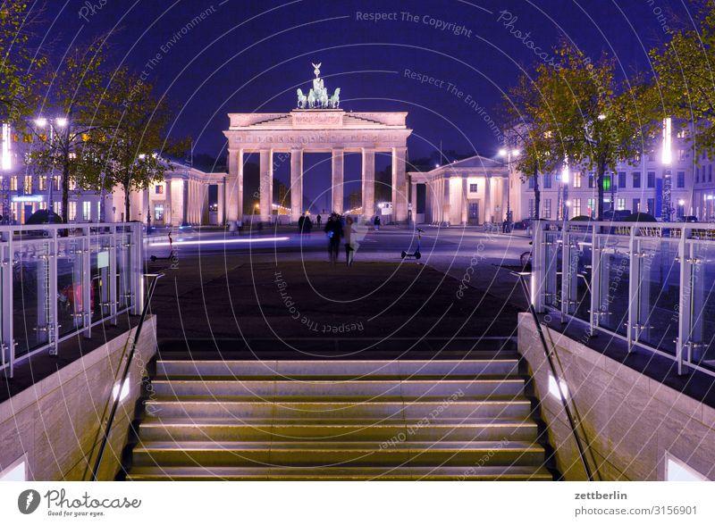 U-Bahnhof Brandenburger Tor Abend Berlin Großstadt dunkel Menschenleer Berlin-Mitte Nacht Pariser Platz Ferien & Urlaub & Reisen Reisefotografie Städtereise
