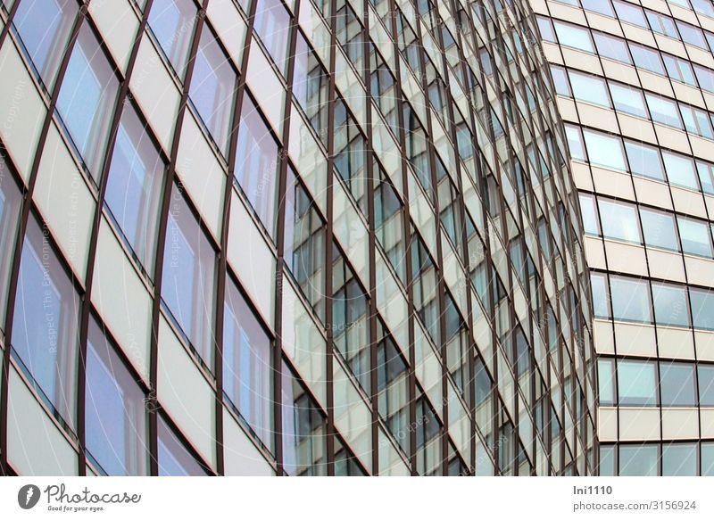 Glasfront | UT Hamburg Hafenstadt Menschenleer Hochhaus Bankgebäude Fabrik Bauwerk Architektur Fassade Beton Stahl blau grau grün schwarz weiß Glasfassade