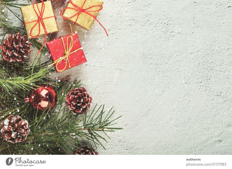 Hintergrund des Weihnachtskonzeptes Winter Schnee Dekoration & Verzierung Tisch Feste & Feiern Weihnachten & Advent Silvester u. Neujahr Ornament weiß Gefühle