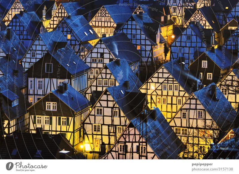 Weihnachtsdorf Ferien & Urlaub & Reisen Tourismus Städtereise Winter Weihnachten & Advent Freudenberg Kleinstadt Stadtzentrum Altstadt Skyline Haus