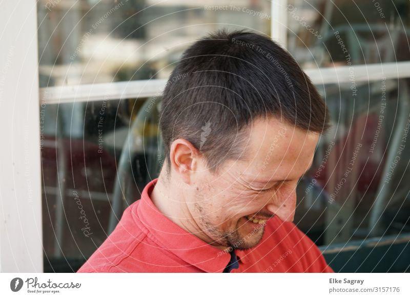 Enrico maskulin Freundschaft Kopf 30-45 Jahre Erwachsene schwarzhaarig kurzhaarig lachen Freundlichkeit Fröhlichkeit Freude Zufriedenheit Lebensfreude