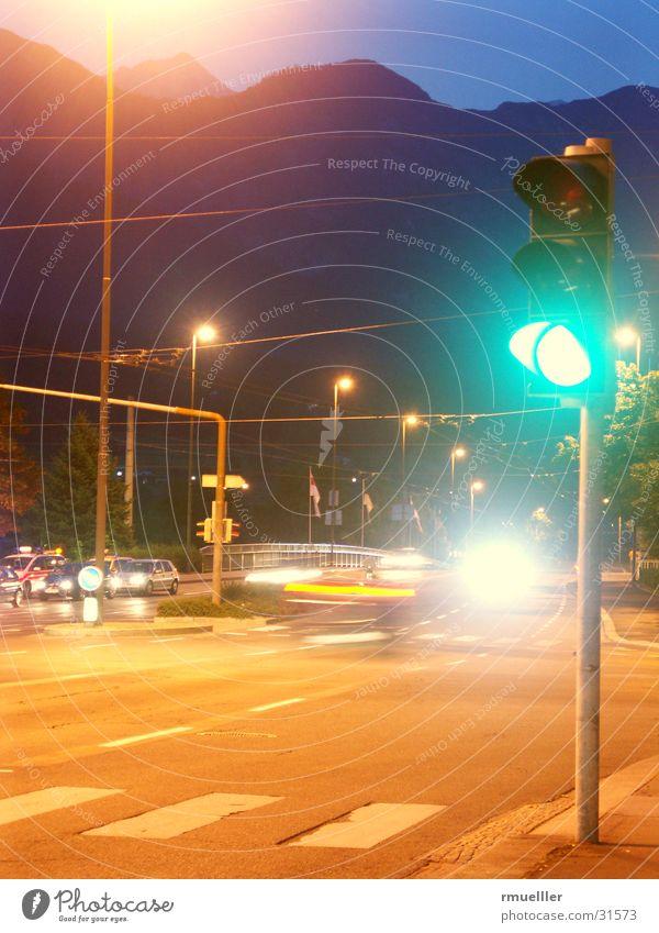 GIB SCHON GAAAS grün Straße PKW Verkehr Dinge Ampel Mischung
