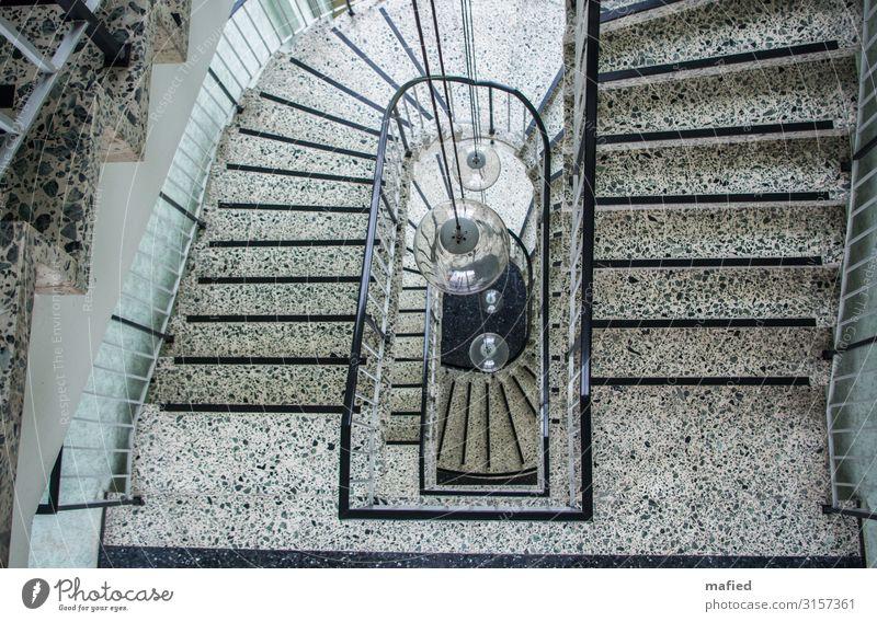 Treppenhaus Lampe Kohlekraftwerk Haus Industrieanlage Stein Beton Glas Metall Design Farbfoto Gedeckte Farben Innenaufnahme Menschenleer Tag Vogelperspektive