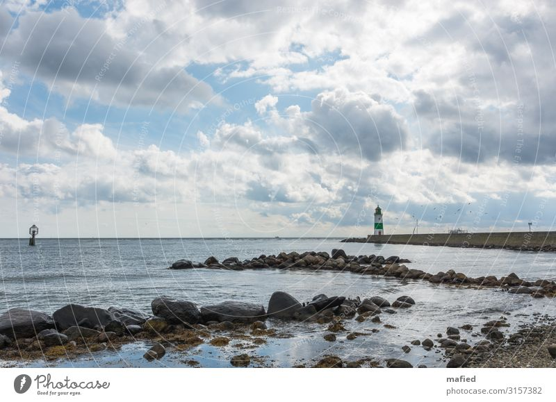 Schleimünde Landschaft Wasser Himmel Wolken Herbst Schönes Wetter Wind Küste Strand Ostsee Leuchtturm Wahrzeichen Schifffahrt Bootsfahrt Fischerboot Segelboot