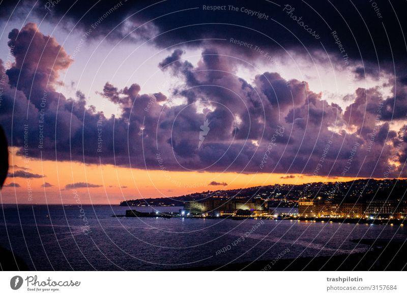 Sonnenuntergang Neapel Ferien & Urlaub & Reisen Tourismus Ausflug Abenteuer Ferne Freiheit Sightseeing Städtereise Kreuzfahrt Wetter Italien Europa