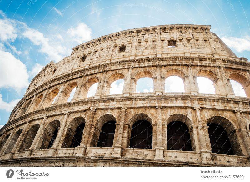 Rom Ferien & Urlaub & Reisen Tourismus Ausflug Abenteuer Ferne Freiheit Sightseeing Städtereise Kreuzfahrt Sommer Italien Europa Hauptstadt Altstadt Mauer Wand