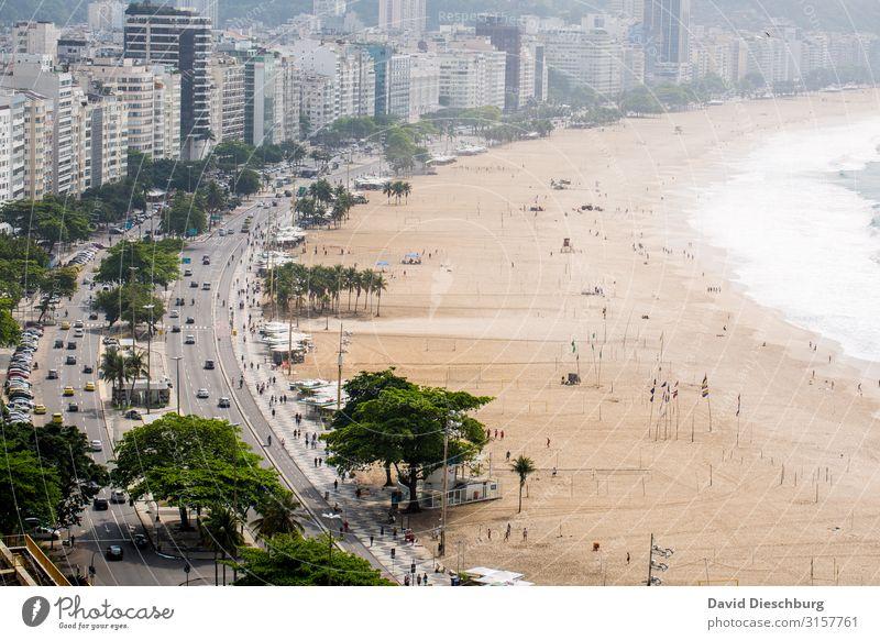 Copacabana Ferien & Urlaub & Reisen Stadt Meer Haus Erholung Strand Küste Bewegung Tourismus PKW Verkehr Wellen Schönes Wetter Sehenswürdigkeit Wahrzeichen