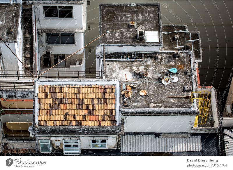 Wohnkomfort Ferien & Urlaub & Reisen Städtereise Stadt überbevölkert Haus Mauer Wand Fassade Balkon Terrasse Dach Häusliches Leben Brasilien Favela Armenviertel