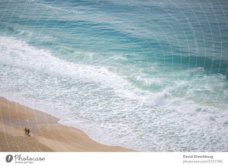 Wir zwei und das Meer Ferien & Urlaub & Reisen Tourismus Ferne Sommerurlaub Strand Insel Wellen Mensch Paar Partner 2 Landschaft Frühling Schönes Wetter Küste