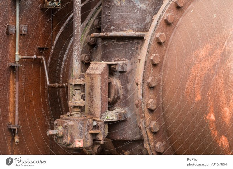 Verrottete Industrieanlagen. Design Freizeit & Hobby Wissenschaften Arbeit & Erwerbstätigkeit Beruf Arbeitsplatz Fabrik Wirtschaft Baustelle Energiewirtschaft