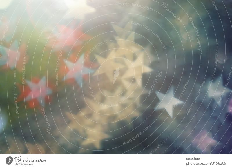 sternchen Sterne Stern (Symbol) leuchten Licht Reaktionen u. Effekte Schwache Tiefenschärfe Unschärfe mehrfarbig Farbe abstrakt Weihnachten & Advent schön