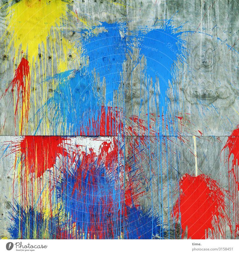 Kompetenztraining Kunst Gemälde Mauer Wand Fleck Farbe Farbstoff Farbfleck Farbenspiel Farbenwelt Stein Beton Linie Originalität rebellisch Stadt wild