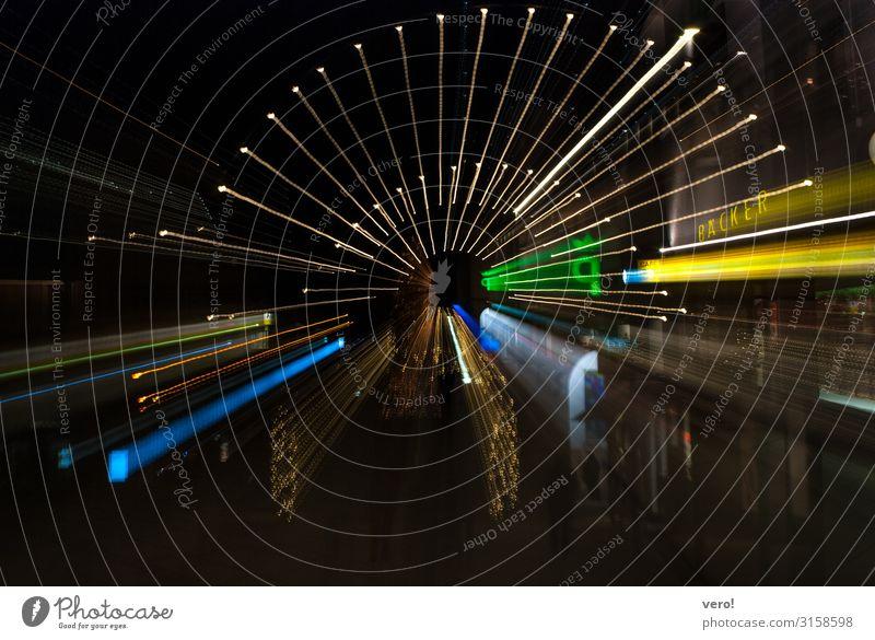 Dornbirn Städtereise Stadt Stadtzentrum Fußgängerzone Marktplatz Fußfgängerzone Licht Lichtermeer Schriftzeichen Bewegung drehen kaufen leuchten Blick