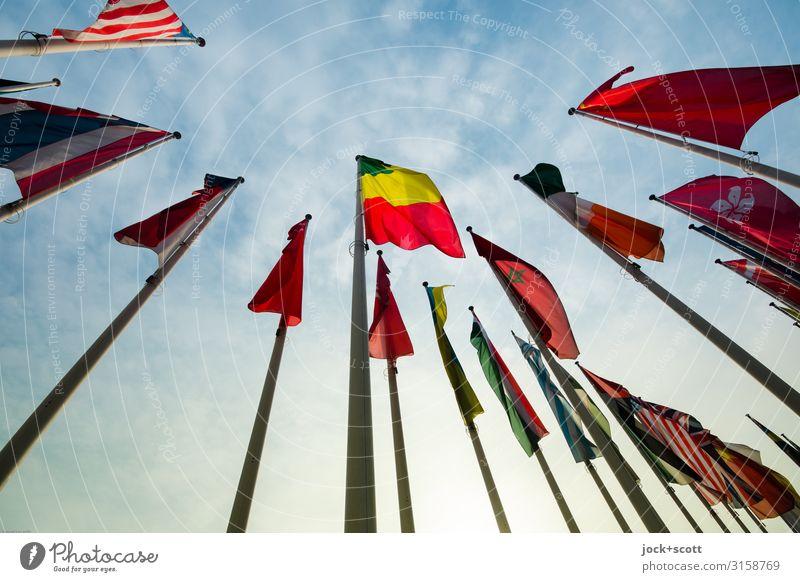 Fahnen stehen für Selbständigkeit, Unabhängigkeit und Einheit Veranstaltung Luft Himmel Wolken Schönes Wetter Charlottenburg-Wilmersdorf Sammlung Nationalflagge