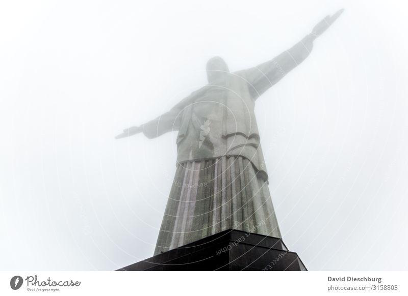 Cristus Ferien & Urlaub & Reisen Tourismus Ausflug Sightseeing Städtereise Wolken Nebel Stadt Sehenswürdigkeit Wahrzeichen Denkmal Religion & Glaube