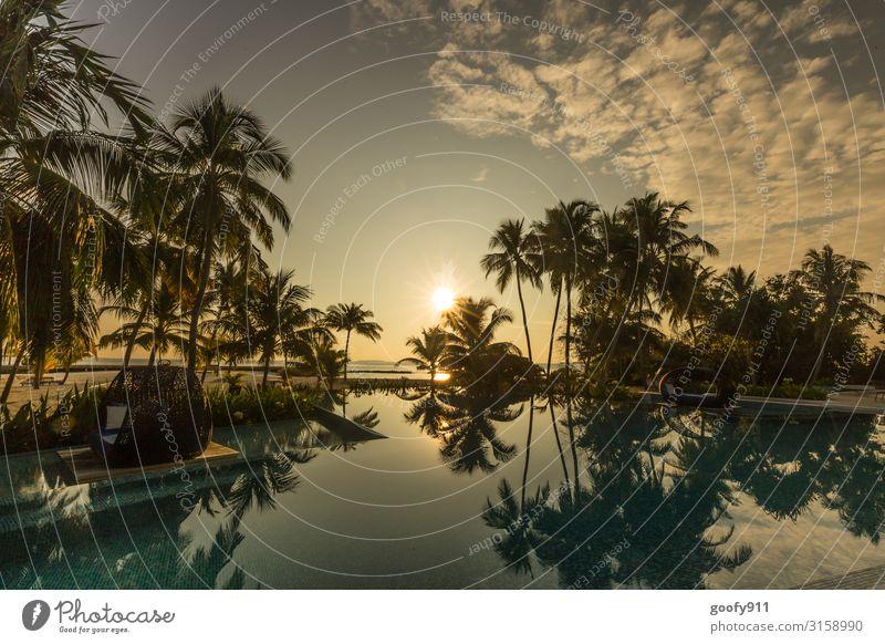 Poollandschaft Ferien & Urlaub & Reisen Tourismus Ausflug Abenteuer Ferne Freiheit Sommer Sonne Sonnenbad Insel Natur Wasser Himmel Wolken Horizont