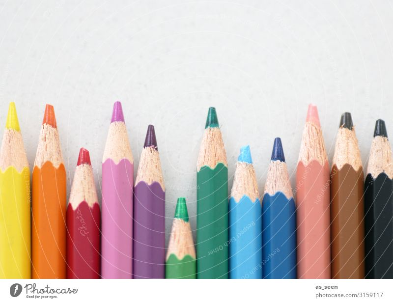 Bunte Stifte Freizeit & Hobby malen zeichnen Kindererziehung Bildung Kindergarten Schule Kunst Kultur Jugendkultur Schreibwaren Schreibstift Farbstift