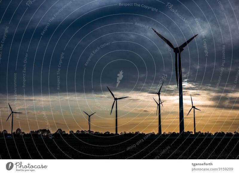 Windpark Neudrerusum II Technik & Technologie Wissenschaften Fortschritt Zukunft High-Tech Energiewirtschaft Erneuerbare Energie Windkraftanlage Wolken