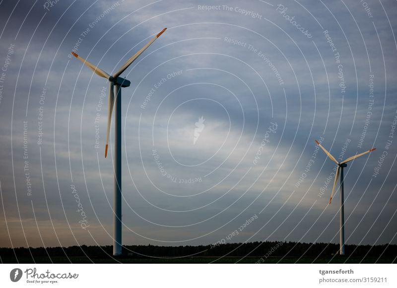 Windpark Neudersum Wirtschaft Industrie Technik & Technologie Fortschritt Zukunft Energiewirtschaft Erneuerbare Energie Windkraftanlage drehen bedrohlich