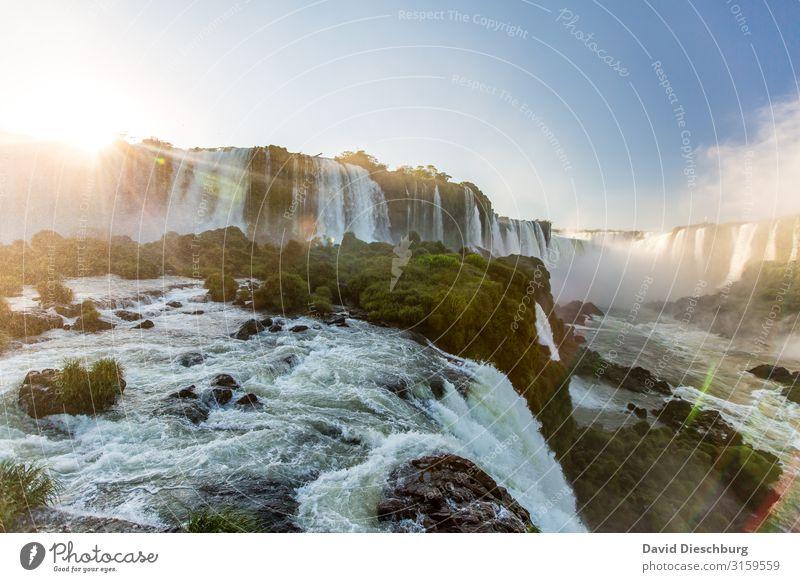 Iguazu Ferien & Urlaub & Reisen Natur Sommer Pflanze Landschaft Erholung Tier Umwelt Frühling Tourismus Wellen Kraft Abenteuer Schönes Wetter Fluss