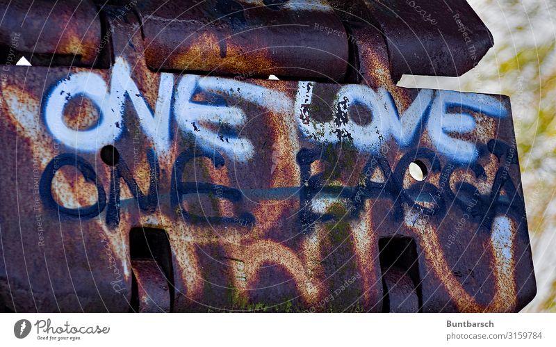 one love – one baggä Lifestyle Arbeit & Erwerbstätigkeit Beruf Handwerker Arbeitsplatz Baustelle Wirtschaft Bergbau Maschine Technik & Technologie Bagger Kunst