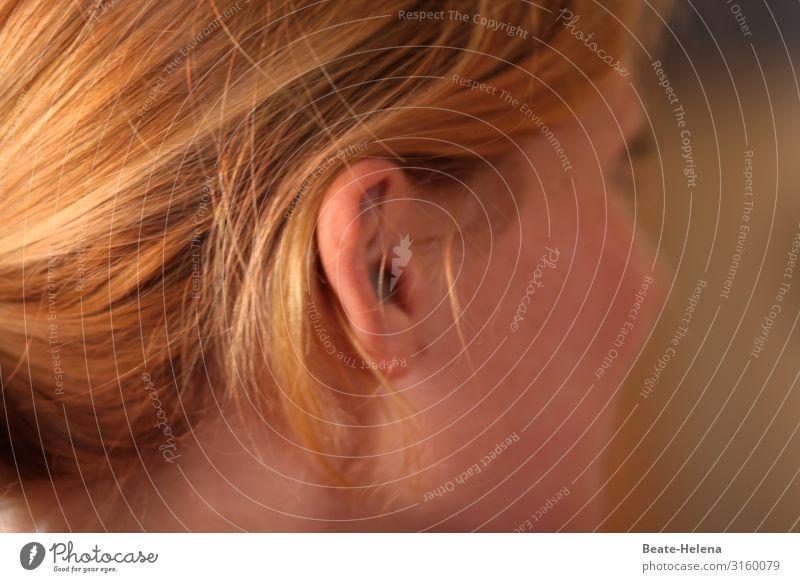 schauen - hören - verstehen (2) schön Haare & Frisuren Haut Gesicht Gesundheit Wellness Wohlgefühl Zufriedenheit ruhig Junge Frau Jugendliche atmen Denken