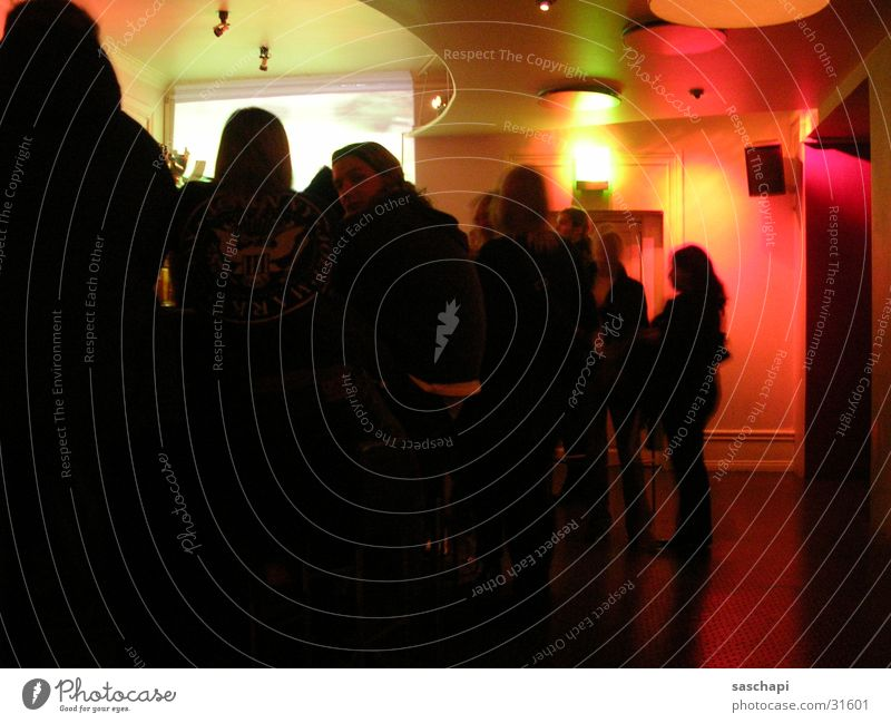 Halbe Treppe 2 Mensch Party Menschengruppe Disco Bar Gastronomie Club Theke Kneipe
