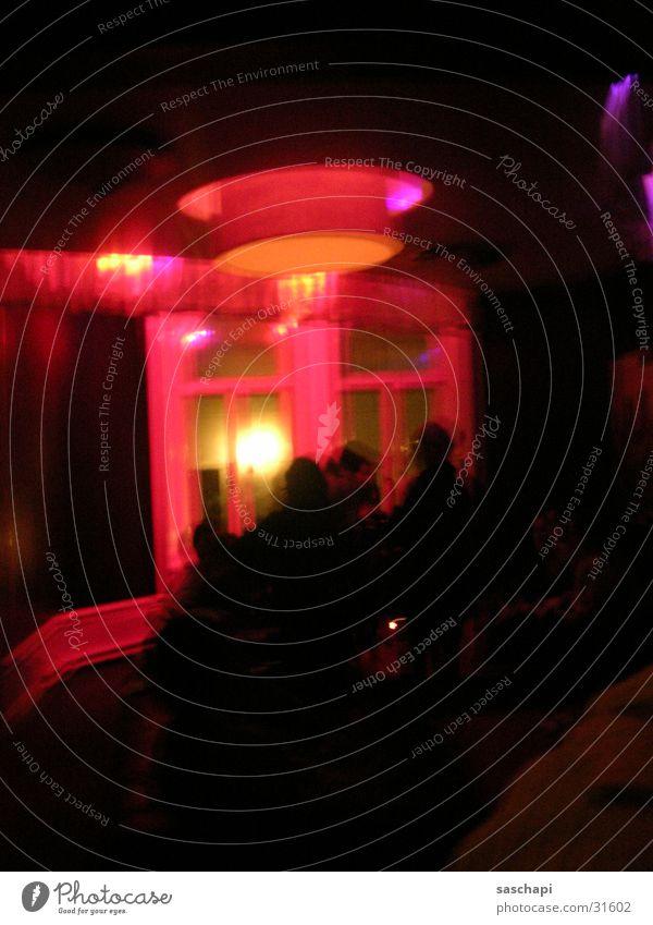 halbe treppe 1 rot Erholung Party Menschengruppe Disco Bar Club