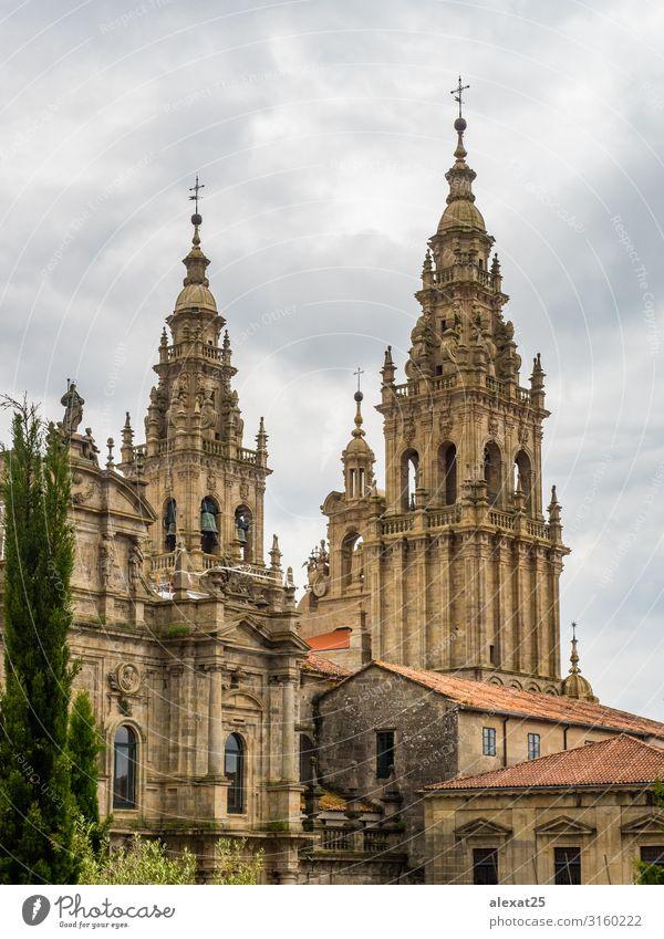 Kathedrale Santiago de Compostela Kathedrale Ferien & Urlaub & Reisen Tourismus Kirche Gebäude Architektur Fassade Denkmal alt Religion & Glaube Klingel Camino